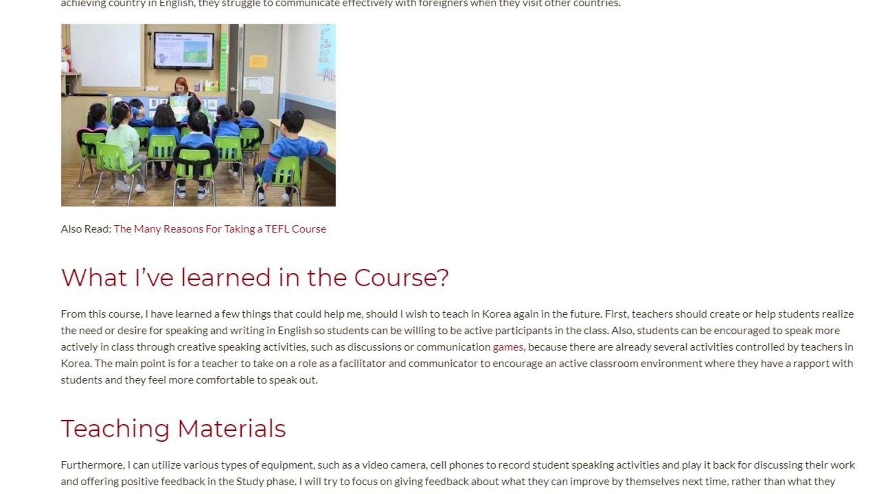 Educational Practice A Look into Issues in Teaching in South Korea | ITTT TEFL BLOG