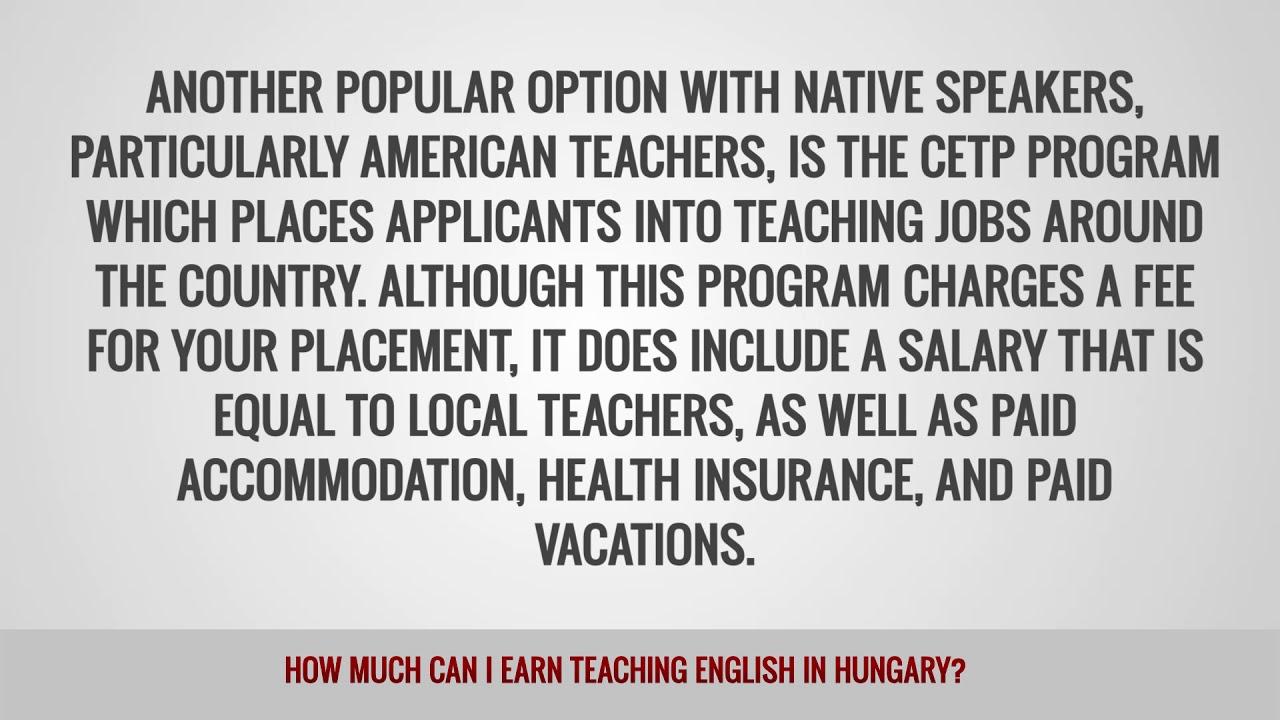 ITTT FAQs – How much can I earn teaching English in Hungary