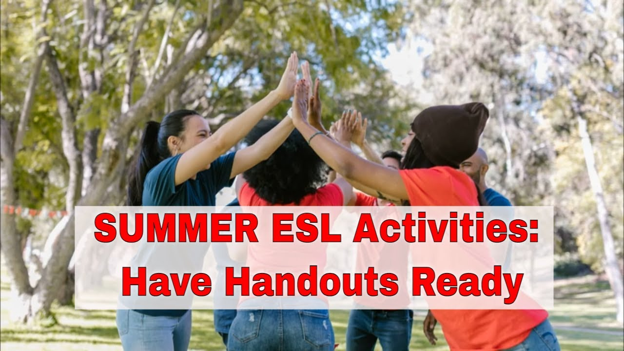 ESL Activities for Teaching English Summer Camp: Board Games