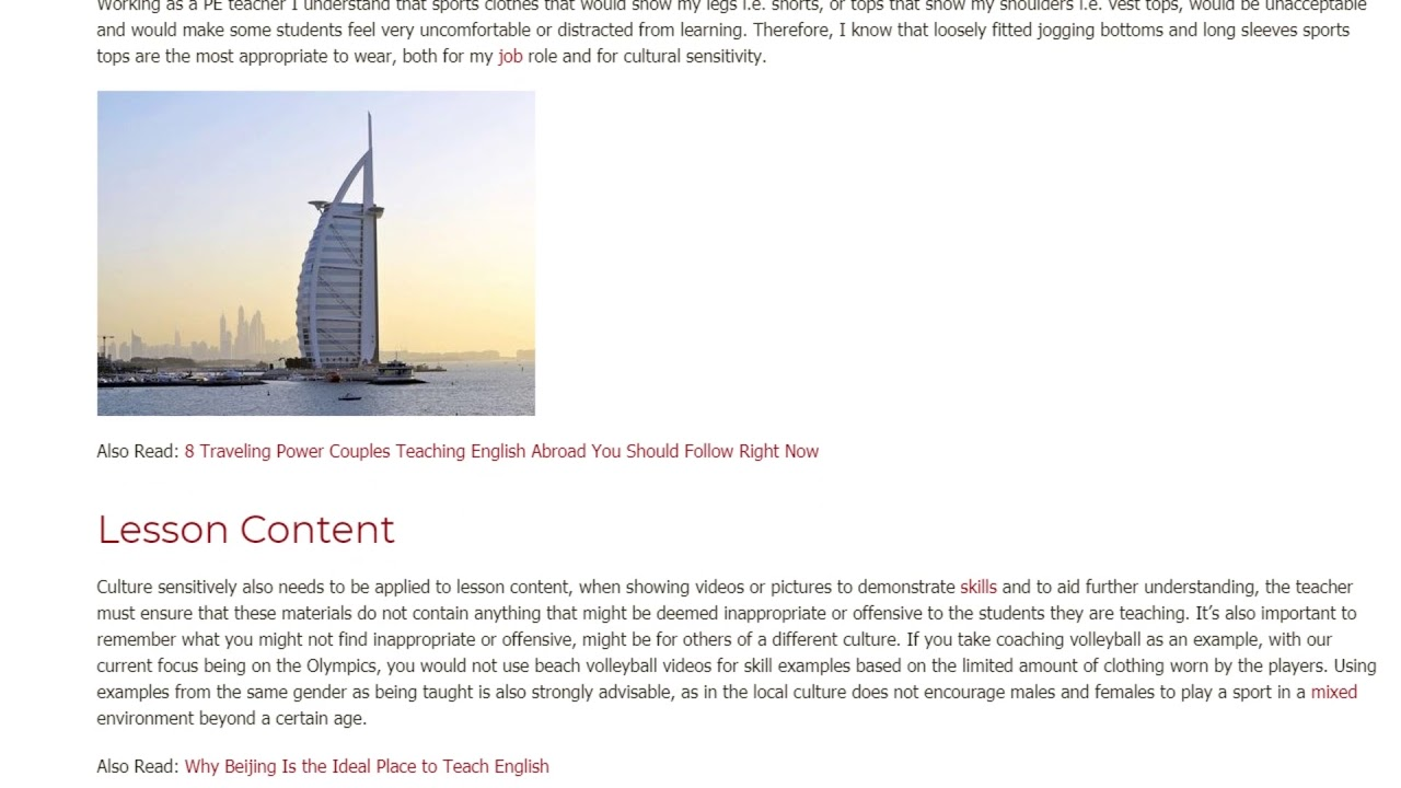 Cultural Features in an ESL Classroom in the UAE   ITTT TEFL BLOG