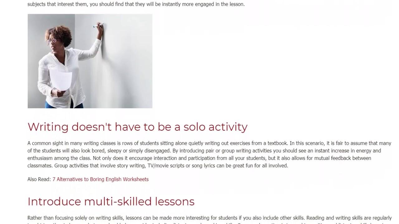 Great Ideas for Teaching Writing Skills in the ESL Classroom   ITTT TEFL BLOG