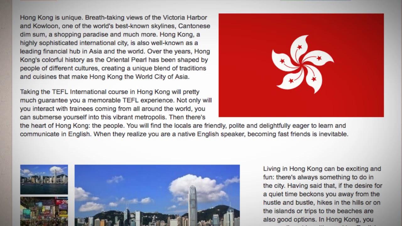 TEFL / TESOL Course in Hong Kong   Teach & Live abroad!