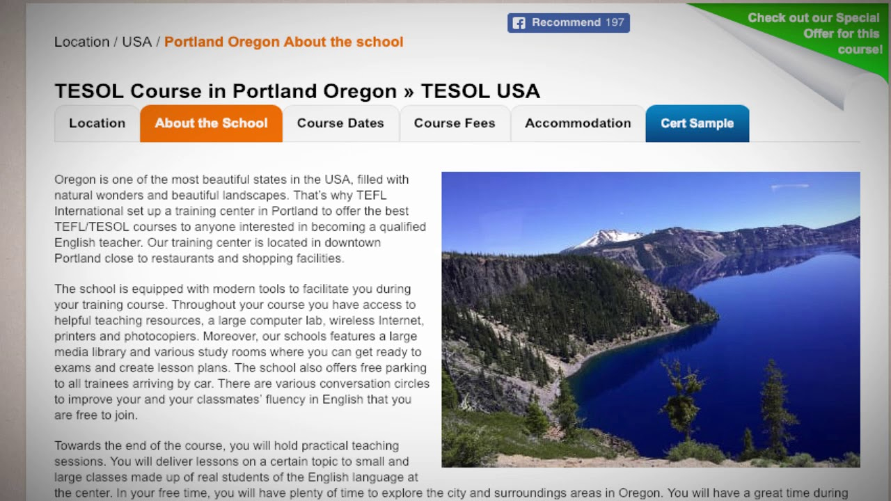 Welcome to Our TEFL / TESOL School in Portland, USA | Teach & Live abroad!