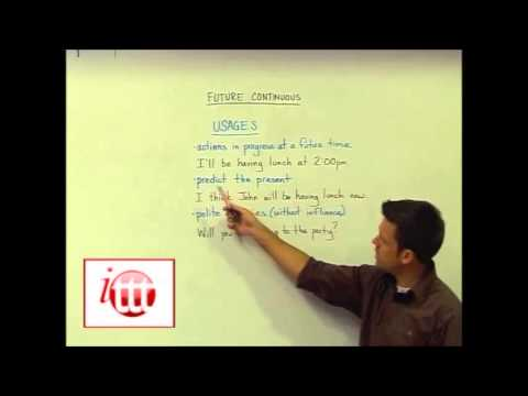 English Grammar – Future continuous – Usage – Teach English TEFL