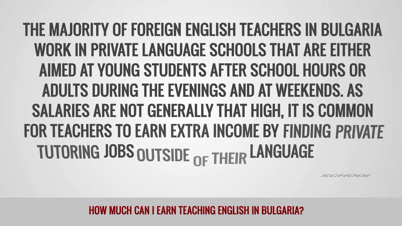 ITTT FAQs – How much can I earn teaching English in Bulgaria?