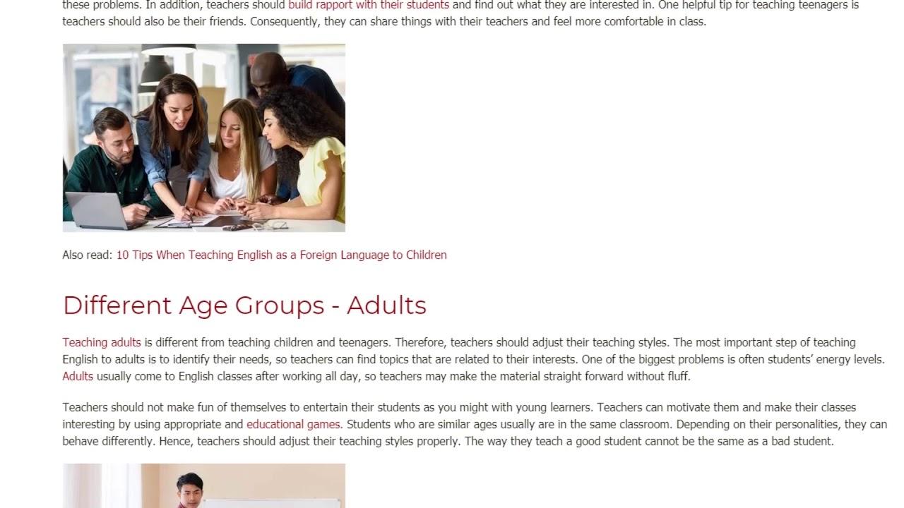 How and When Should a TEFL Teacher Adjust Their Teaching Style | ITTT TEFL BLOG