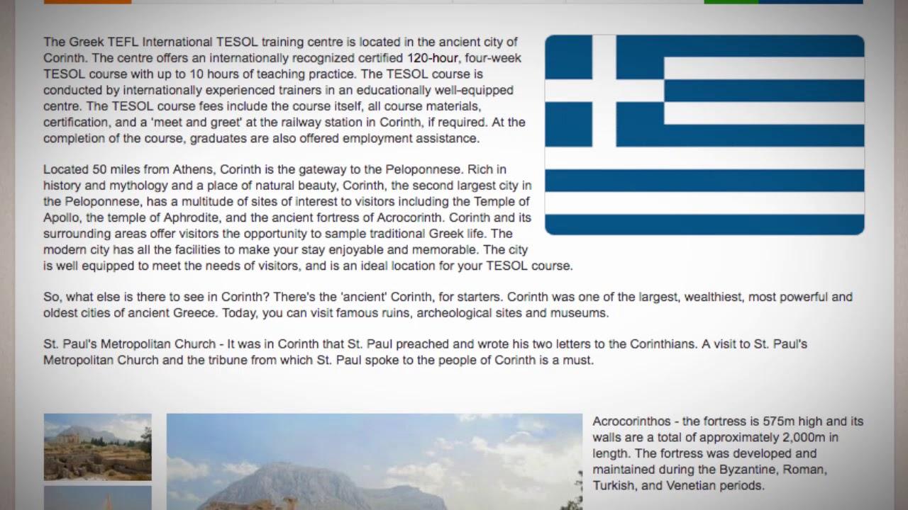 TESOL Course in Corinth, Greece   Teach & Live abroad!