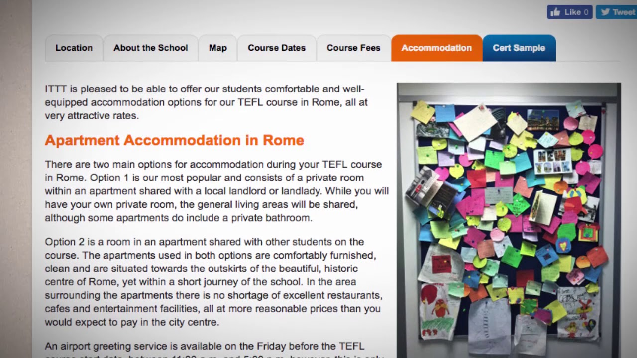 TEFL / TESOL School Accommodation in Rome, Italy | Teach & Live abroad!1