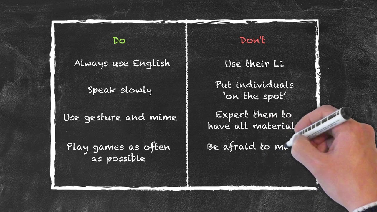 Teaching Special Groups in ESL – Do's and Don'ts When Teaching Young Learners