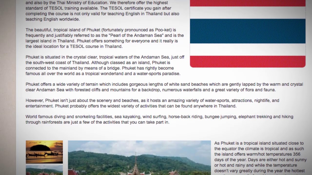 Combined TEFL / TESOL School in Phuket, Thailand | Teach & Live abroad!