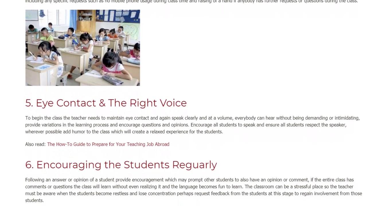 8 Important Tips For Good Classroom Management | ITTT TEFL BLOG