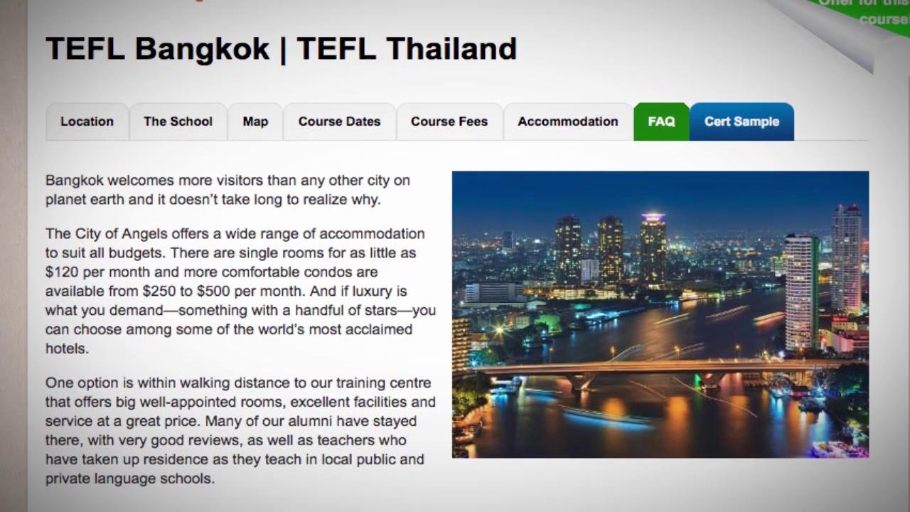 TEFL / TESOL School Accommodation in Bangkok, Thailand| Teach & Live abroad!