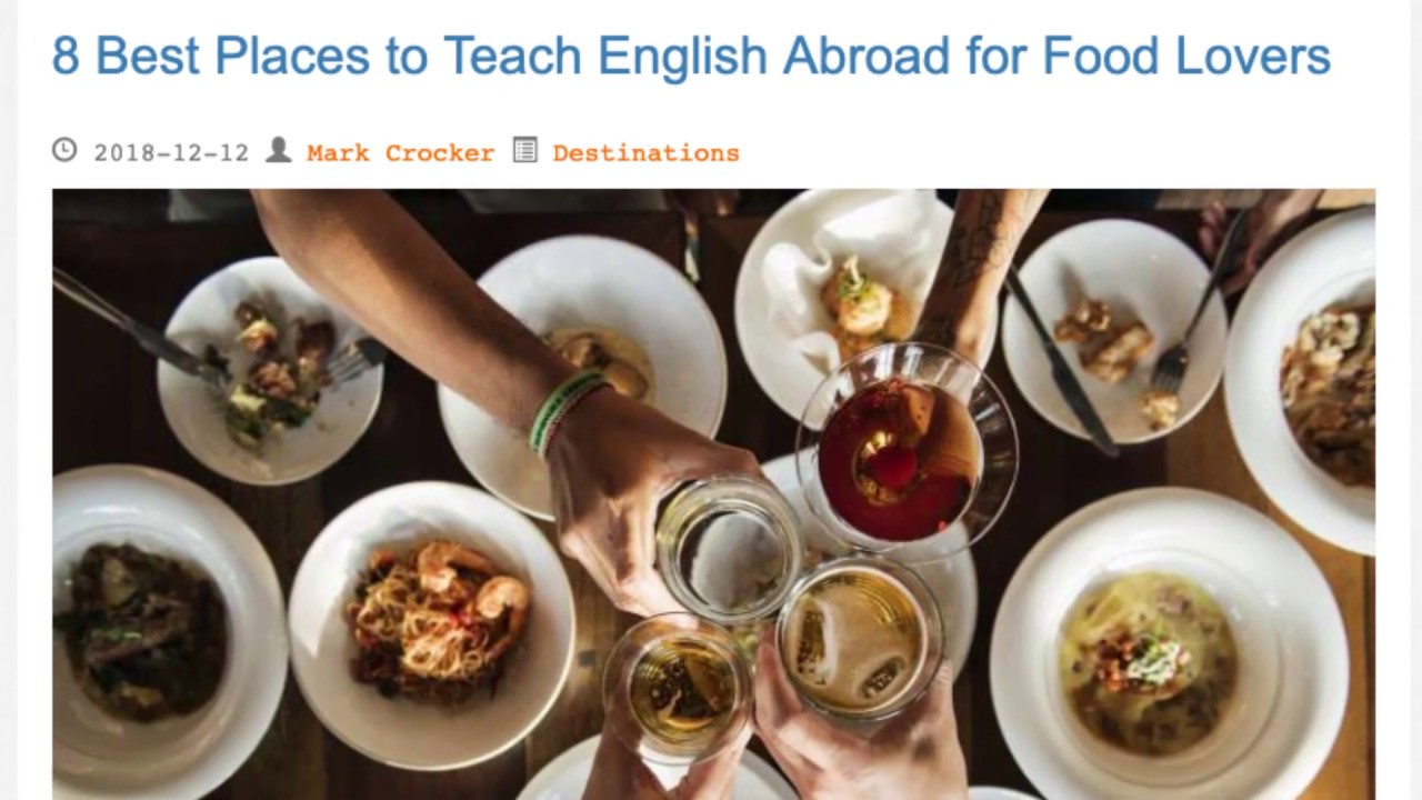 8 Best Places to Teach English Abroad for Food Lovers | ITTT TEFL BLOG