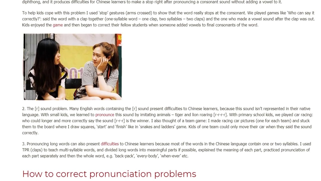 Pronunciation Challenges Students Face in China  | ITTT TEFL BLOG
