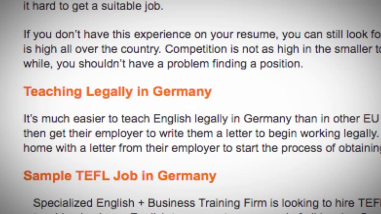 TEFL/TESOL Jobs in Germany | International TEFL and TESOL Training (ITTT)