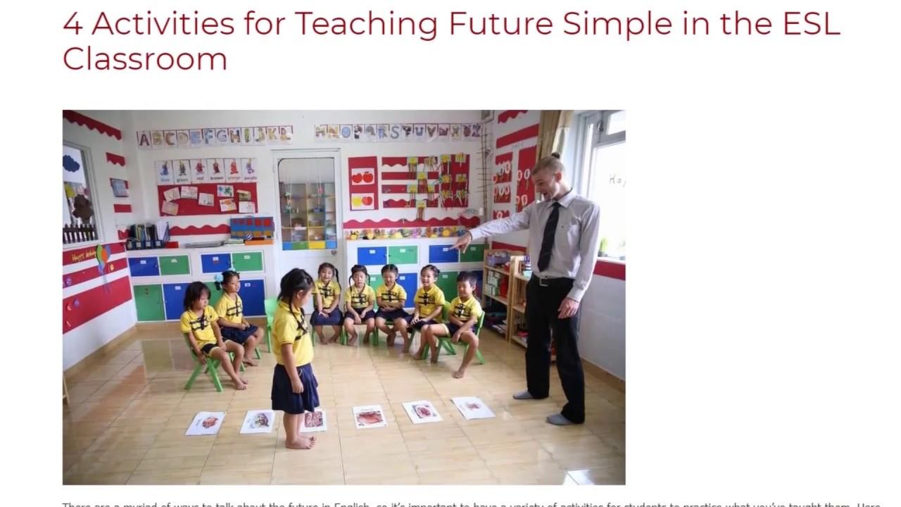 4 Activities for Teaching Future Simple in the ESL Classroom | ITTT TEFL BLOG