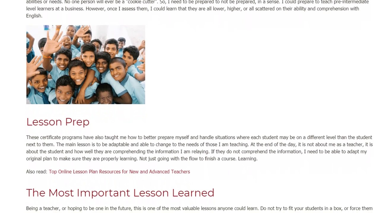 The best thing I've learned from my TEFL/TESOL course | ITTT TEFL BLOG