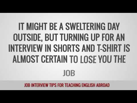 ITTT FAQs – Job interview tips for teaching English abroad