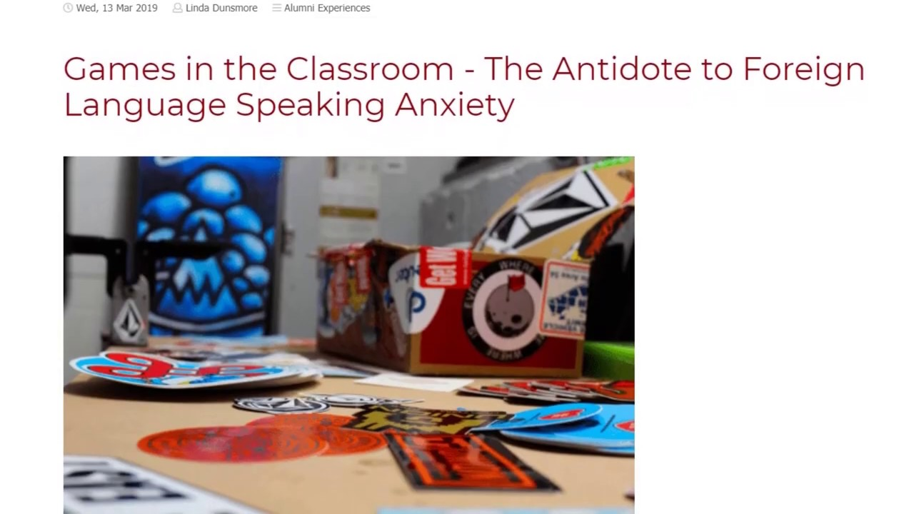 Games in the Classroom – The Antidote to Foreign Language Speaking Anxiety   ITTT TEFL BLOG