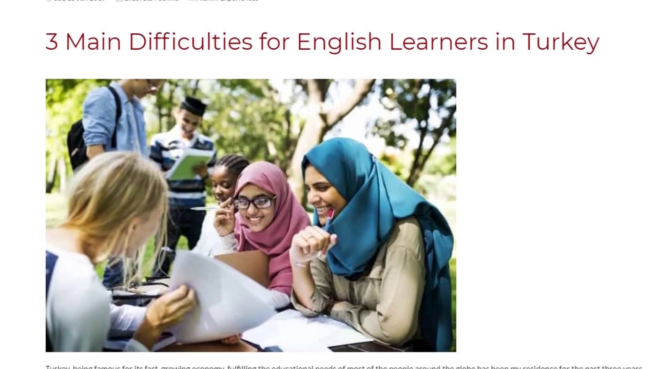 3 Main Difficulties for English Learners in Turkey | ITTT TEFL BLOG