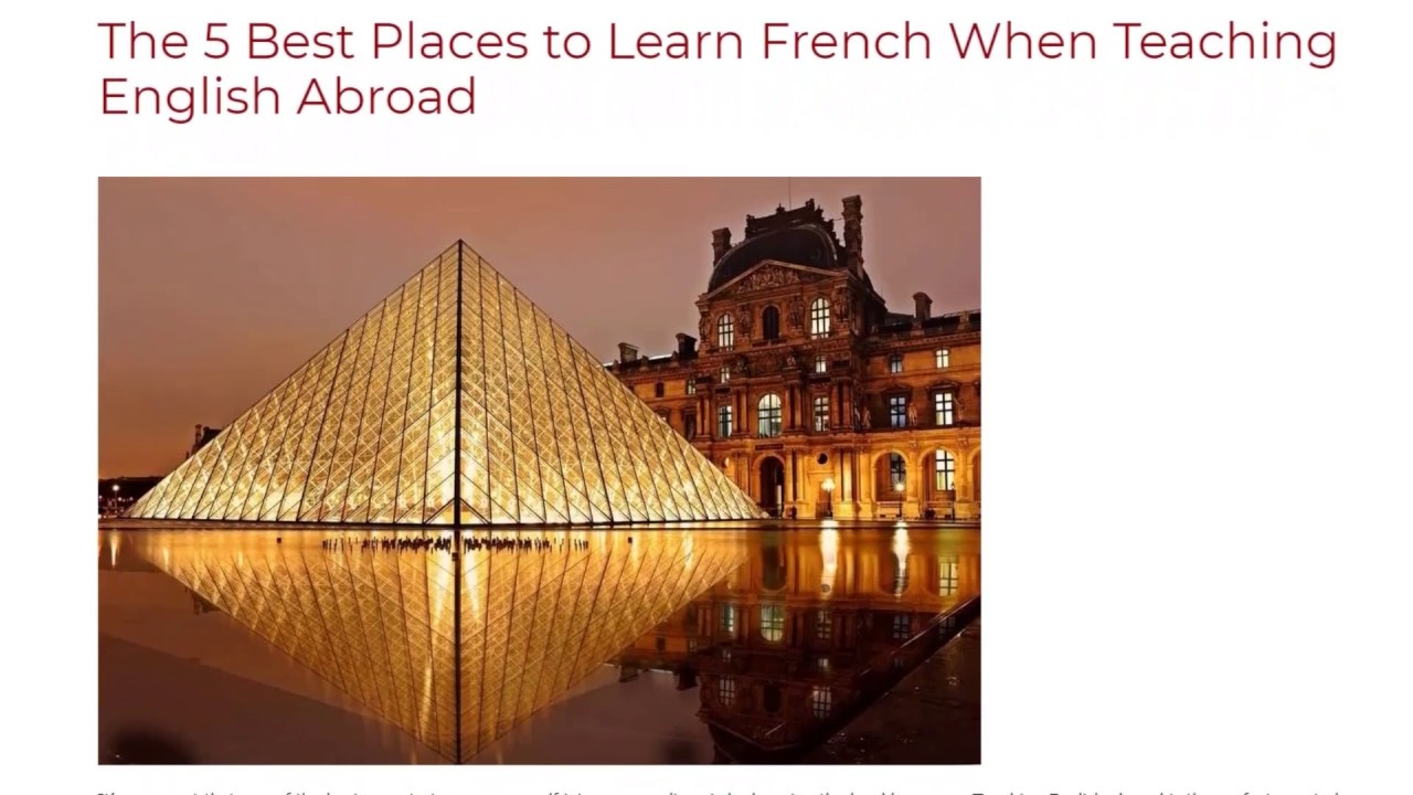 The 5 Best Places to Learn French When Teaching English Abroad | ITTT TEFL BLOG