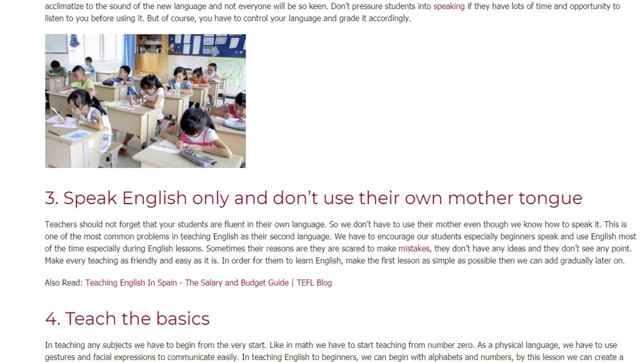 7 Useful Tips on Teaching Beginner Students | ITTT TEFL BLOG