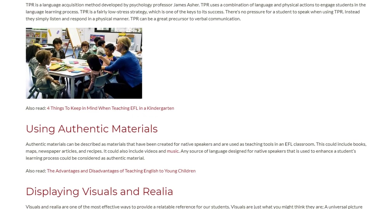 Top Tips for Teaching EFL in a Kindergarten | ITTT TEFL BLOG