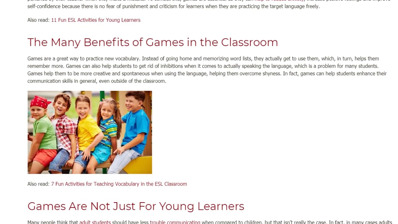 Why Games Are So Important in the English Language Classroom | ITTT TEFL BLOG