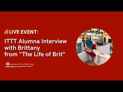 """Live Session November 27, 2020 with ITTT Alumna Brittany from """"The Life of Brit"""""""