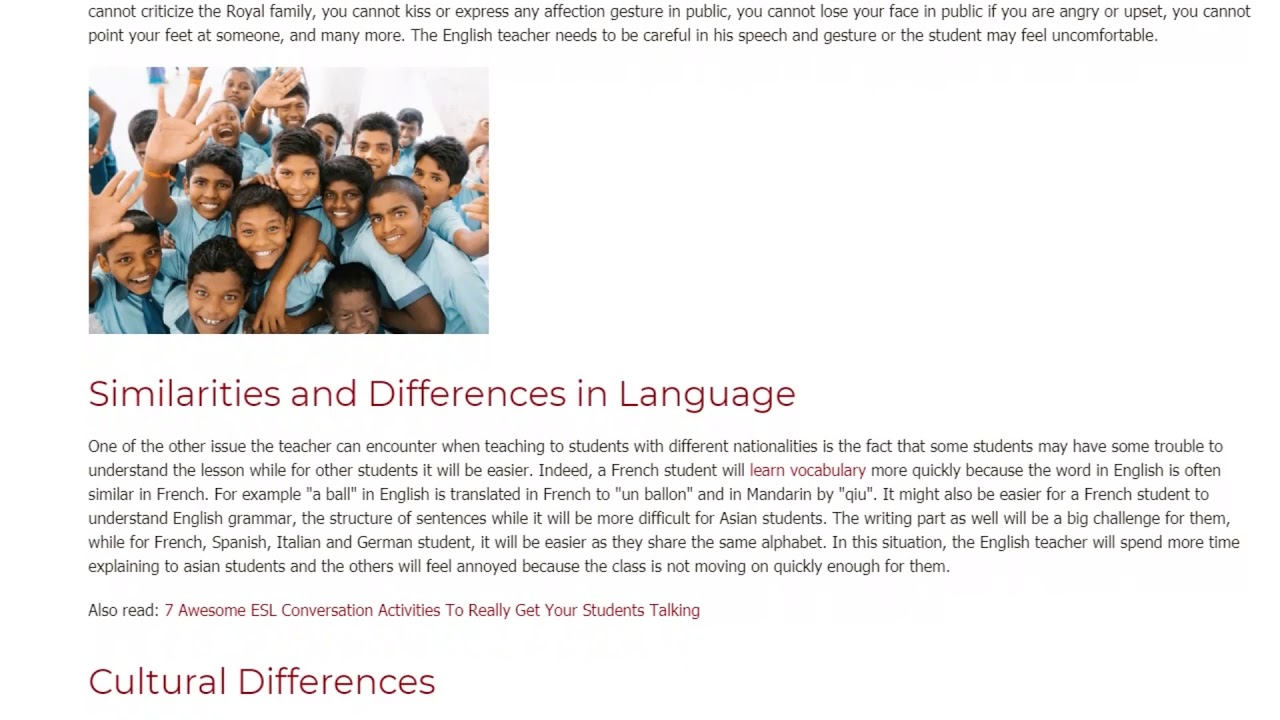 The 4 Most Common Problems Students Face When Learning English | ITTT TEFL BLOG