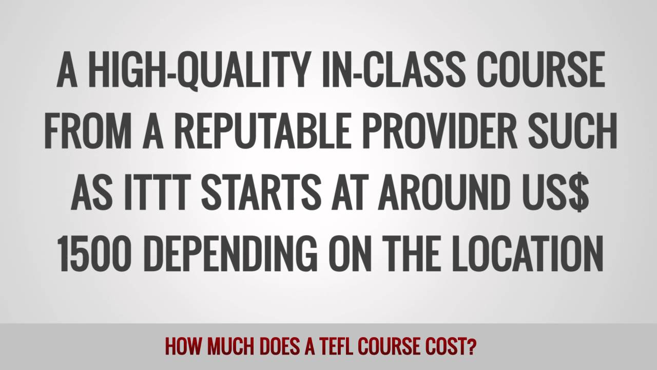 How much does a TEFL course cost?