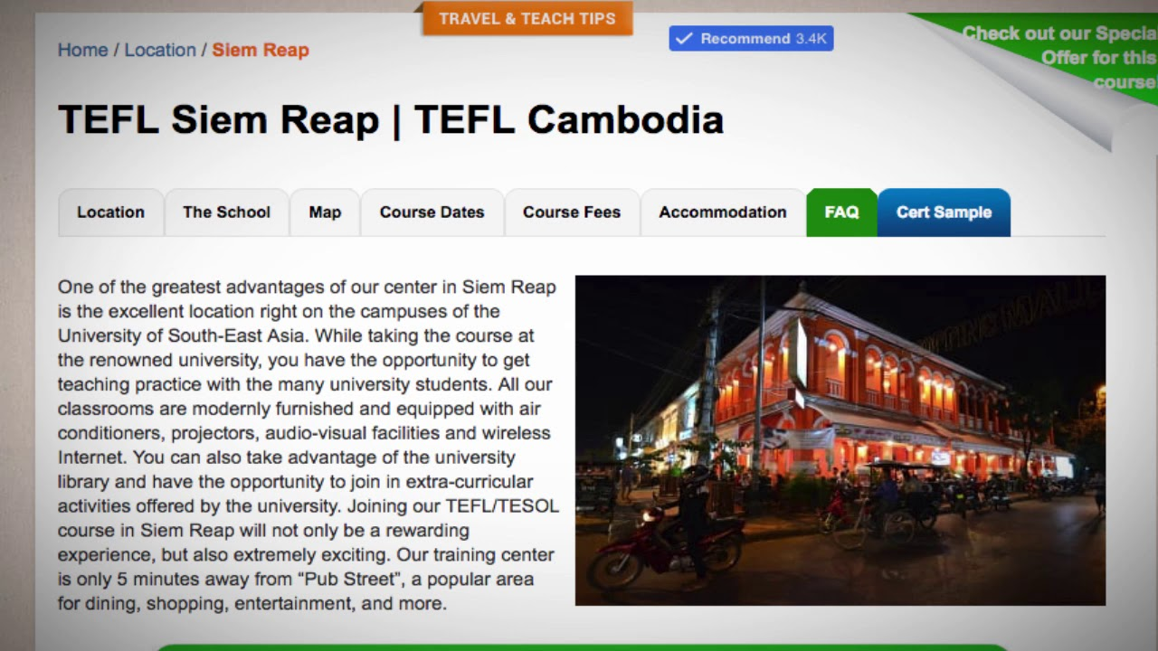 Welcome to Our TEFL / TESOL School in Siem Reap, Cambodia | Teach & Live abroad!