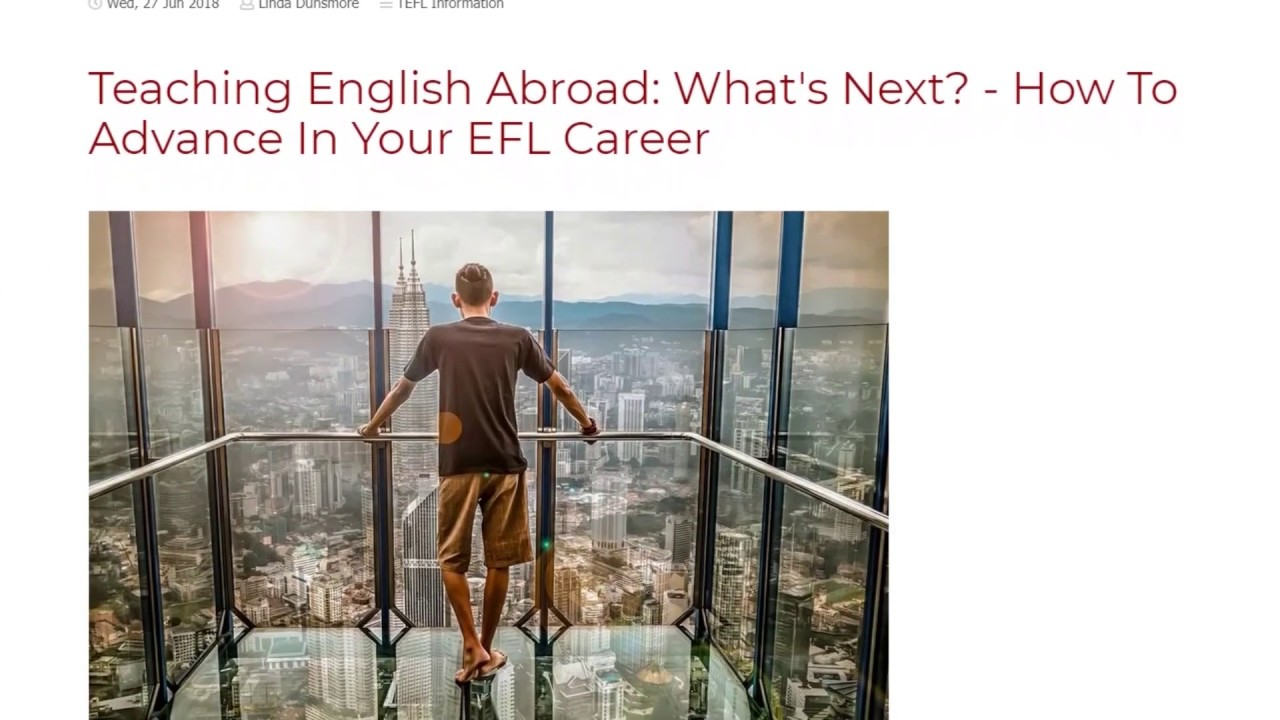 Teaching English Abroad: What's Next? – How To Advance In Your EFL Career | ITTT TEFL BLOG