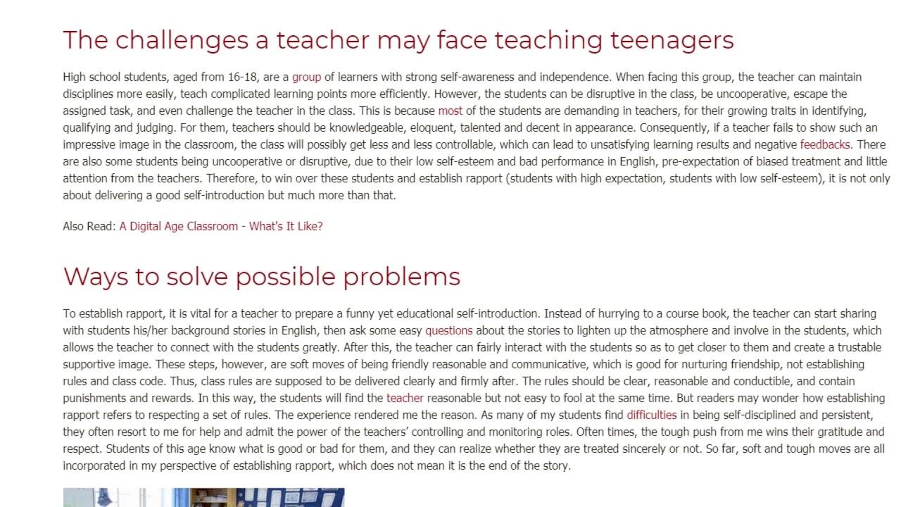 Establishing Rapport with Chinese High School Students   ITTT TEFL BLOG