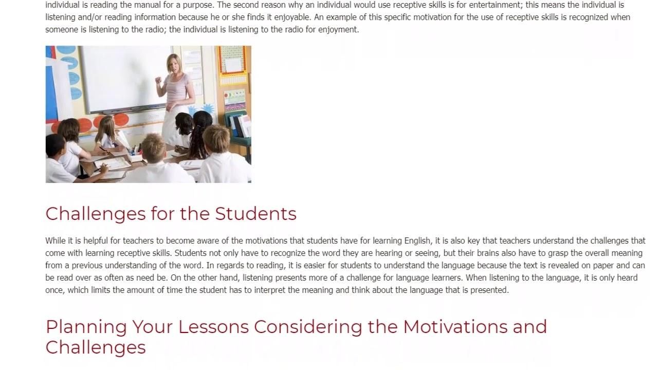 Guide to Teaching Receptive Skills in the EFL Classroom | ITTT TEFL BLOG