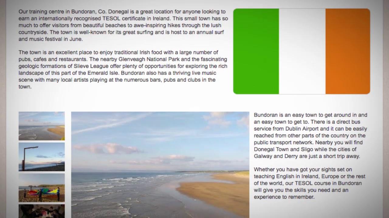 TESOL Course in Bundoran, Ireland | Teach & Live abroad!