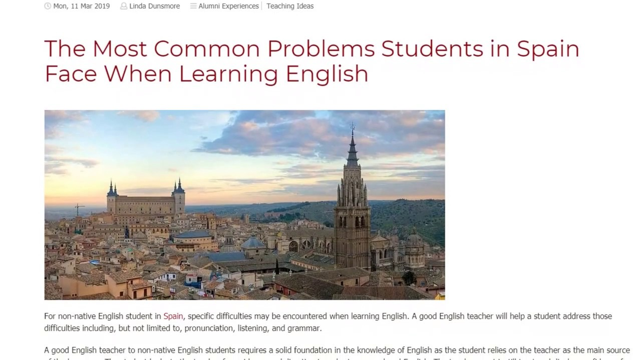 The Most Common Problems Students in Spain Face When Learning English | ITTT TEFL BLOG