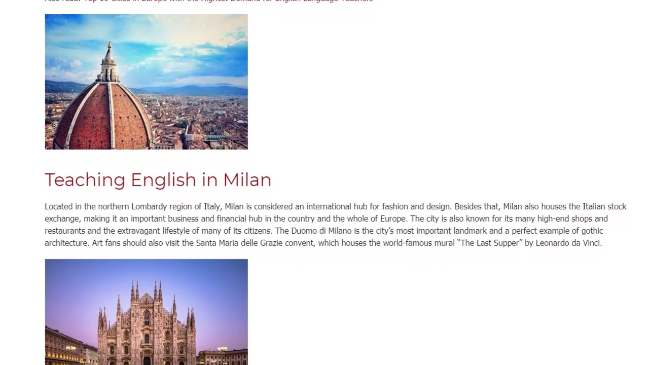 The 7 Most Beautiful Cities in Italy for Teaching English Abroad | ITTT TEFL BLOG