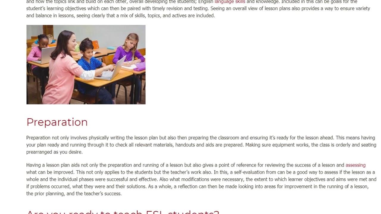 Lesson Planning: Necessary or Not   ITTT TEFL BLOG