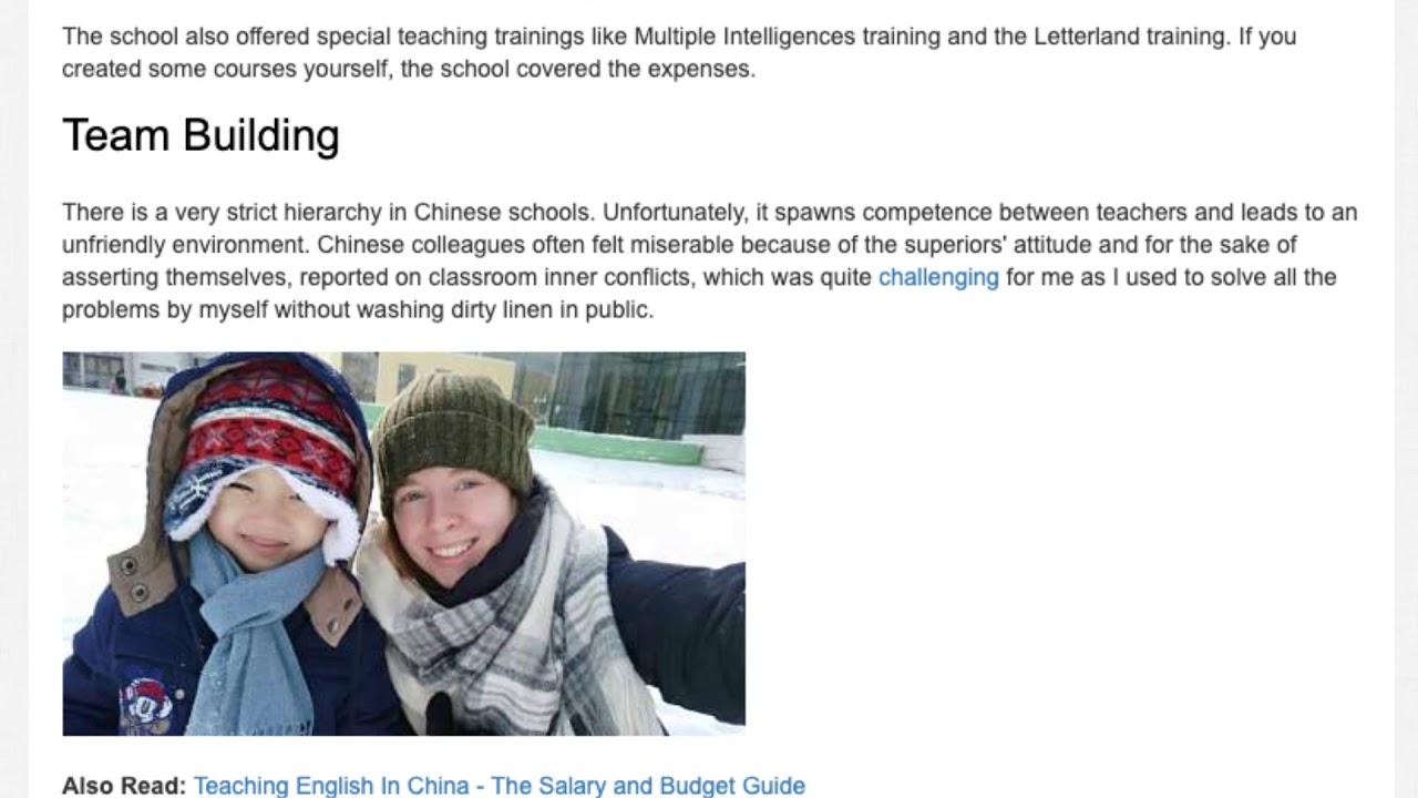 What It's Like Being a Bilingual Kindergarten Teacher in China | ITTT TEFL BLOG
