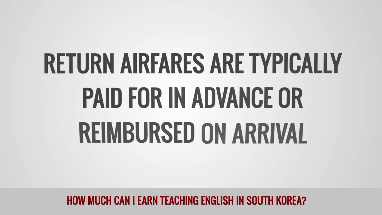 ITTT FAQs – How much can I earn teaching English in South Korea?