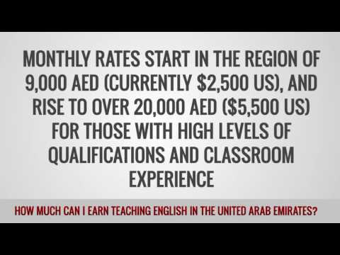 ITTT FAQs –  How much can I earn teaching English in the United Arab Emirates