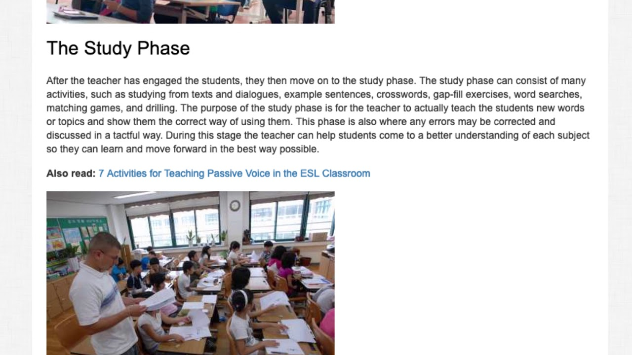 ESA Methodology – What Is It and Why Should You Use It In The Classroom? | ITTT TEFL BLOG