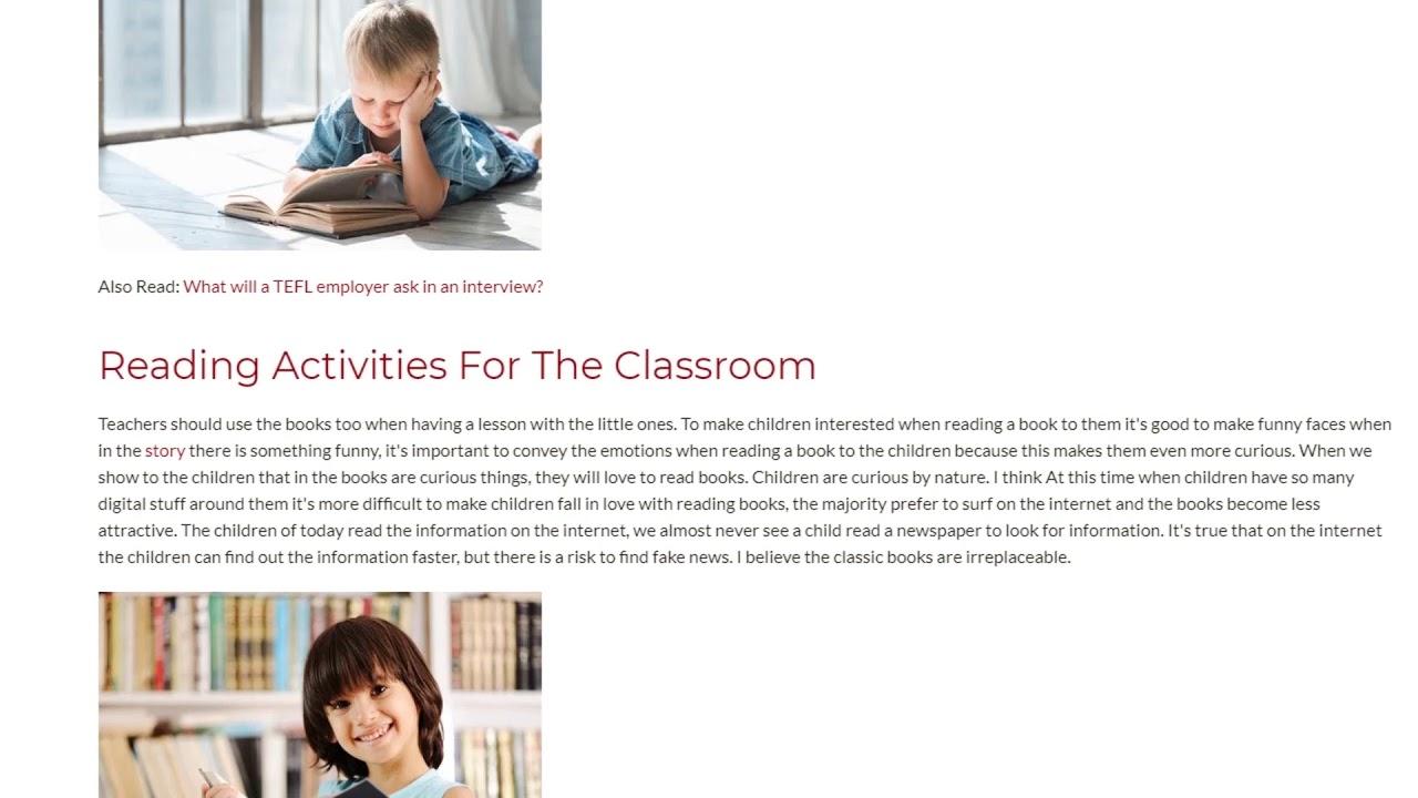 Leaders Are Readers How to Develop Children's Interest for Reading | ITTT TEFL BLOG