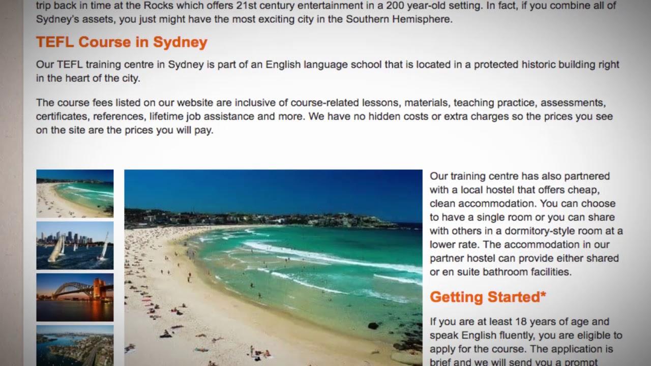 TEFL / TESOL Course in Sydney, Australia   Teach & Live abroad!