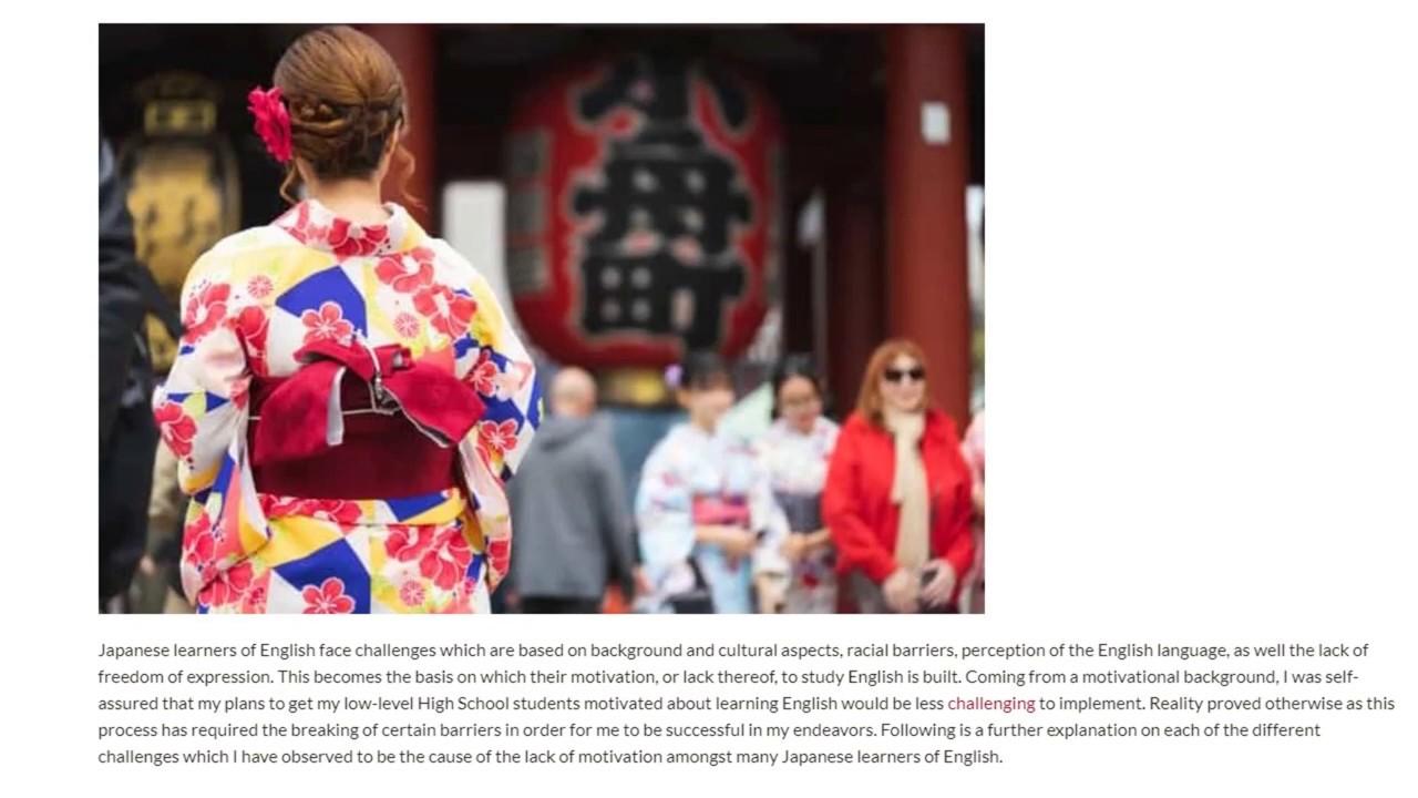 4 Reasons Why Japanese Students Are Often Lacking Motivation   ITTT TEFL BLOG