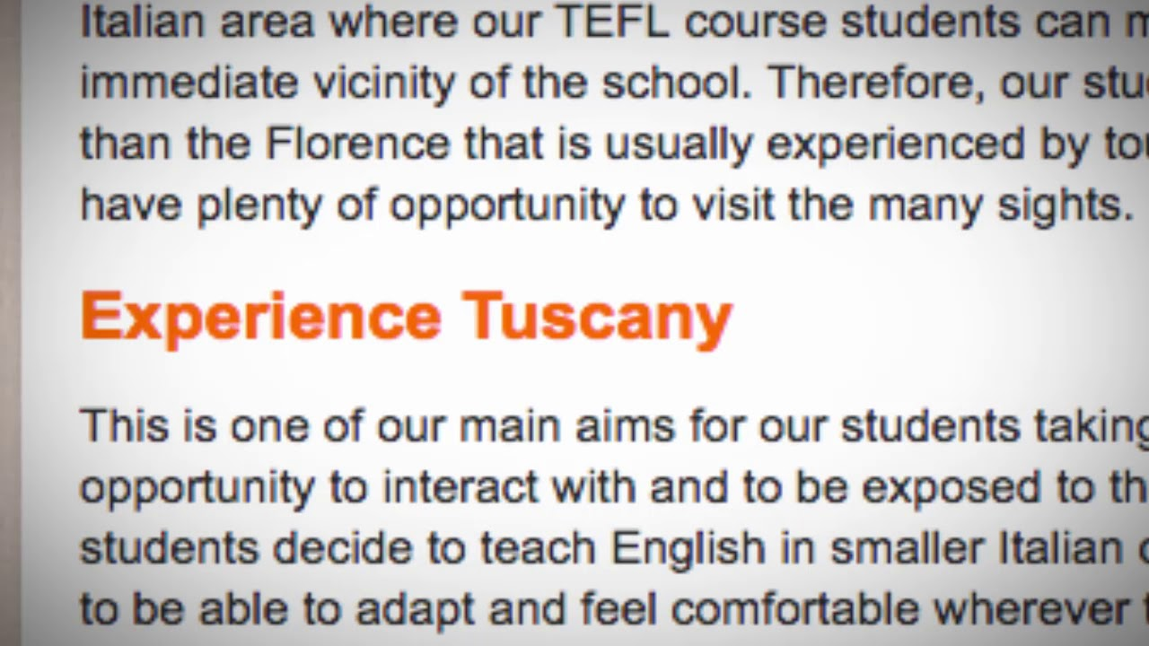 Welcome to Our TEFL / TESOL School in Florence, Italy | Teach & Live abroad!