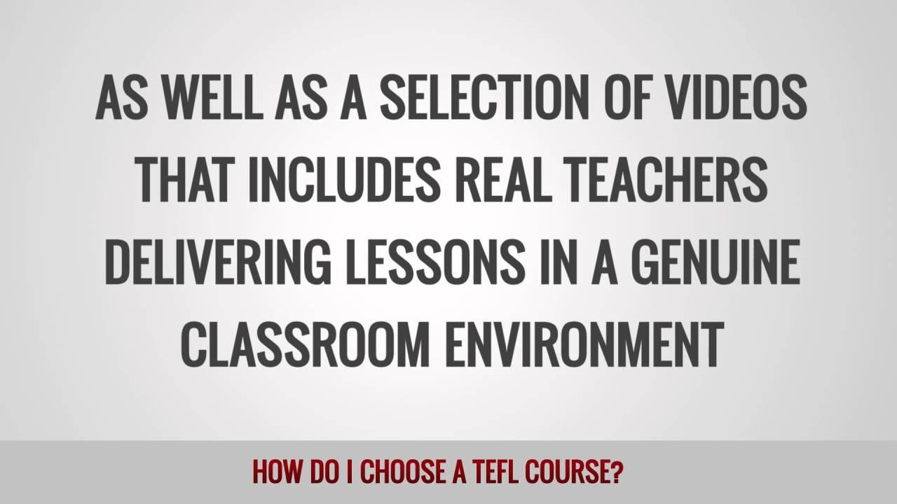 How do I choose a TEFL course?