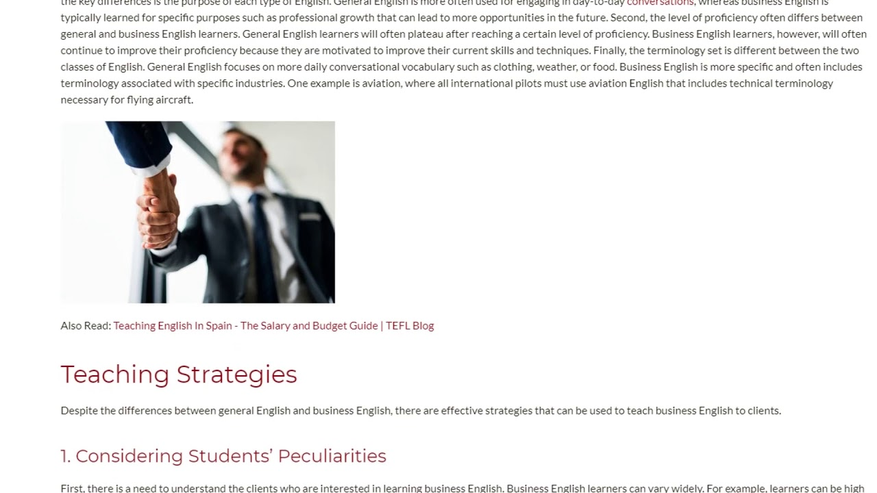 2 Effective Strategies for Teaching Business English | ITTT TEFL BLOG
