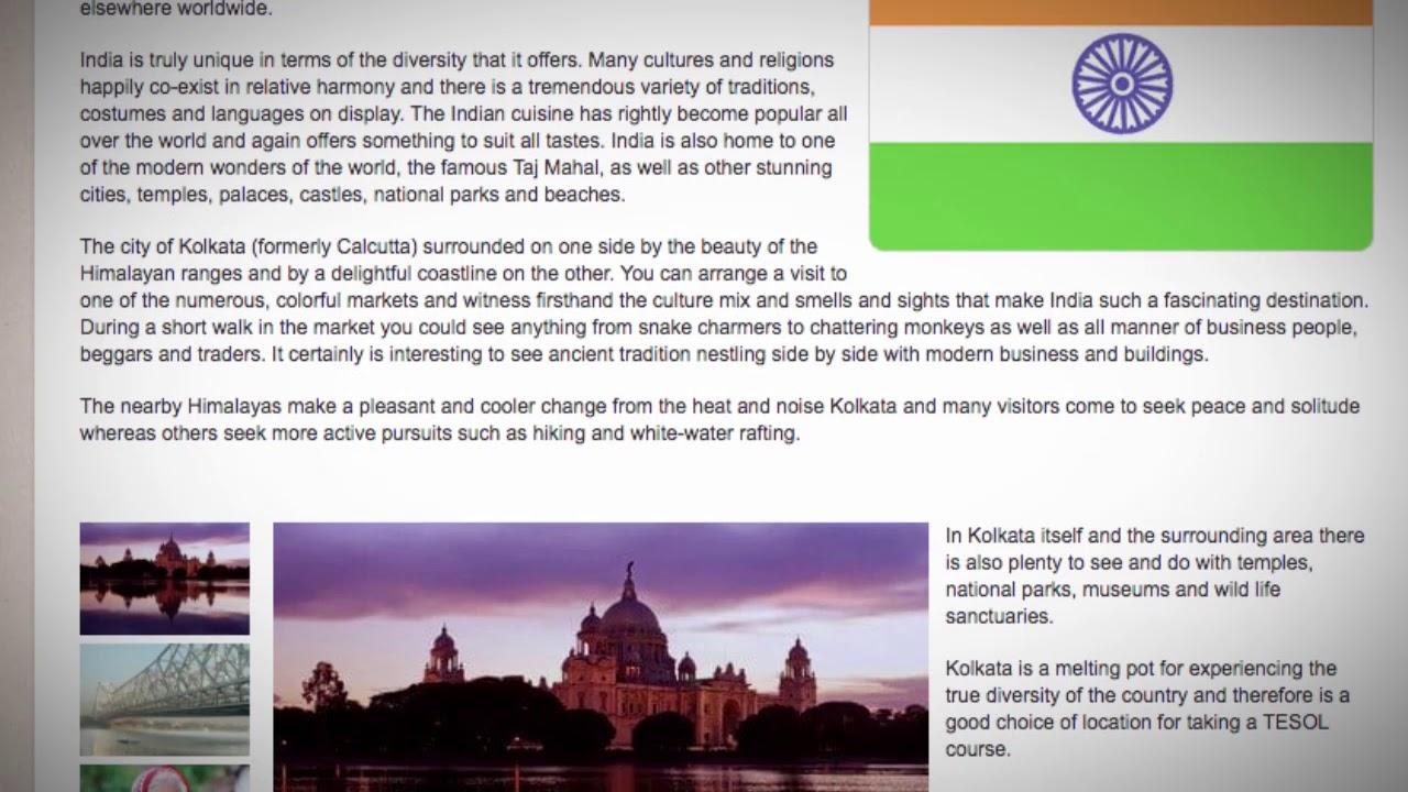 TESOL Course in Calcutta, India   Teach & Live abroad!